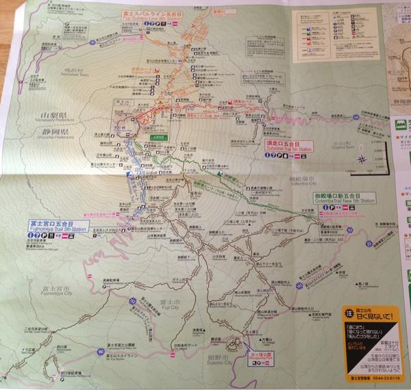 富士登山マップ