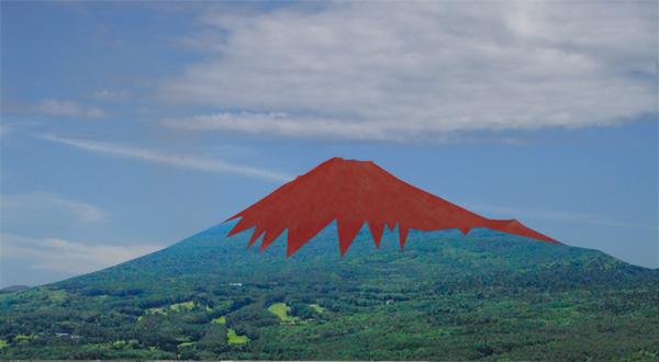 彼の富士山