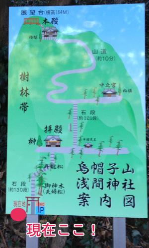登頂までの地図