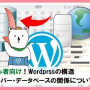 wordpressサーバーデータべース